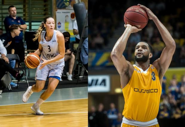 Angelika Slamova (z lewej) i Josh Bostic (z prawej) byli liderami swoich zespołów podczas pierwszych zmagań z Rygą. Koszykarka zdobyła 15 punktów, a Amerykanin 18. Oba drużyny z Gdyni jednak przegrały te spotkania.