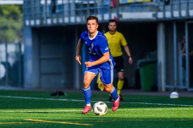 Marcel Stefaniak (na zdjęciu) przy stanie 0:0 był bliski zdobycia efektownej bramki zza pola karnego. Nie udało się, a mimo wielu kolejnych okazji, Bałtyk został bez gola.
