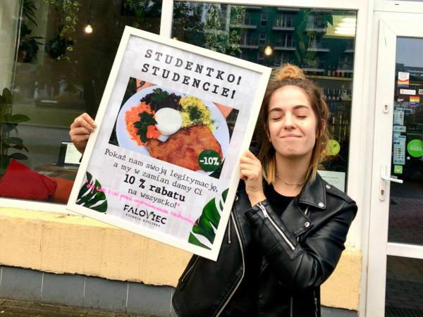 Najwięcej restauracji proponuje studentom 10-procentowe zniżki - na przykład Faloviec.