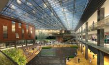 Główną atrakcją wnętrza centrum handlowego będzie przypuszczalnie staw.