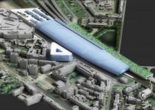 Wizja pracowni Fort dla wrzeszczańskiego dworca również sugerowała schowanie Drogi Czerwonej w tunel, lecz z utworzeniem nad nią zieleni.