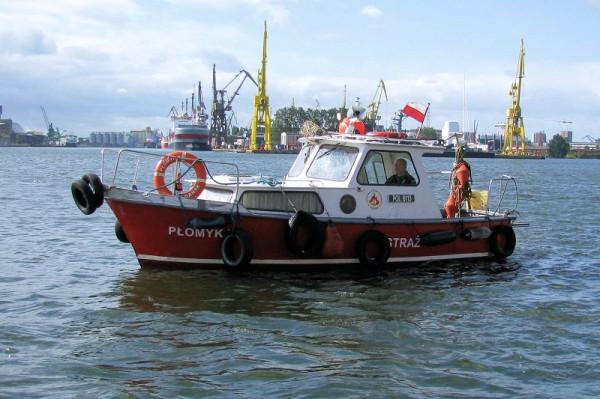 """Płomyk-2 - jednostka służąca m.in. do przeciwdziałania rozlewom, będąca na wyposażeniu Portowej Straży Pożarnej """"Florian"""" w Gdańsku."""