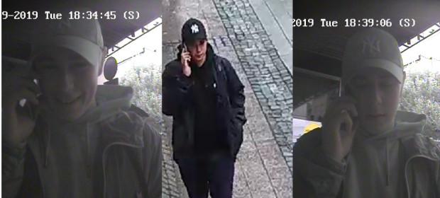 Podejrzany o oszustwo młody mężczyzna pieniądze wypłacił w bankomacie przy ul. Monte Cassino.