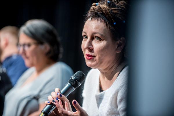 Olga Tokarczuk podczas 42. Festiwalu Polskich Filmów Fabularnych w Gdyni.