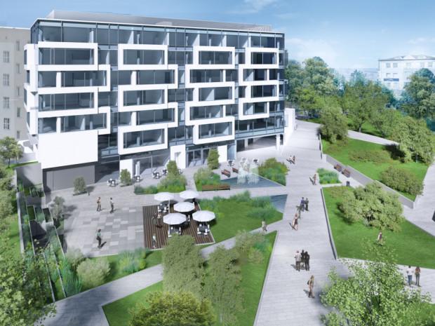 Biurowiec Square powstaje na skwerze Plymouth w centrum Gdyni.