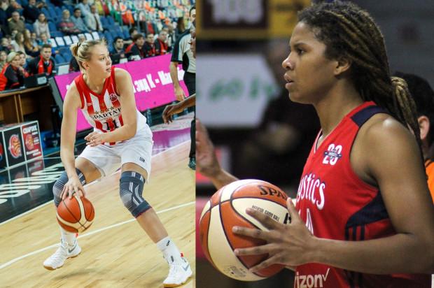Anna Pachurina (z lewej) występowała ostatnio w euroligowej Invencie Kursk. Z kolei Tierra Ruffin-Pratt (z prawej) to wicemistrzyni WNBA z 2018 roku.