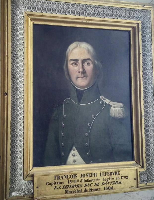 Portret Francois Josepha Lefebvre'a, napoleońskiego zdobywcy Gdańska, który - zgodnie z ówczesną tradycją - nosił tytuł księcia podbitego miasta.