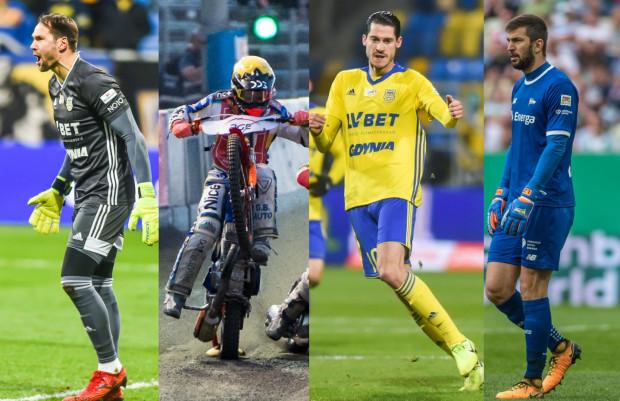 Liderzy plebiscytu na Najlepszego Ligowca 2019 Roku po pierwszym tygodniu głosowania (od lewej): Pavels Steinbors, Krystian Pieszczek, Marko Vejinović, Dusan Kuciak.