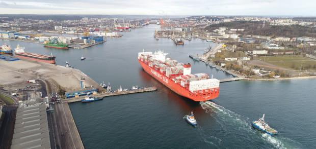 Na lepszy wynik trójmiejskich portów wpłynął m.in. wzrost przeładunku kontenerów.