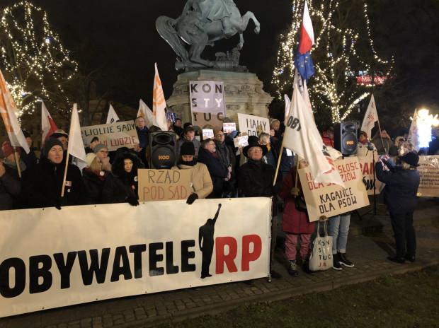 Protest w obronie sądów w Gdańsku.