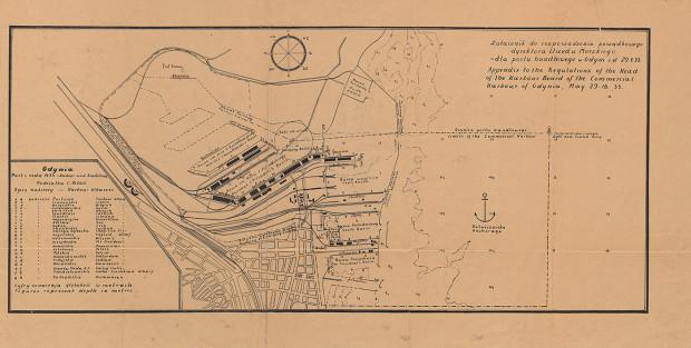 "Plan  ""Gdynia. Port i reda 1933"""
