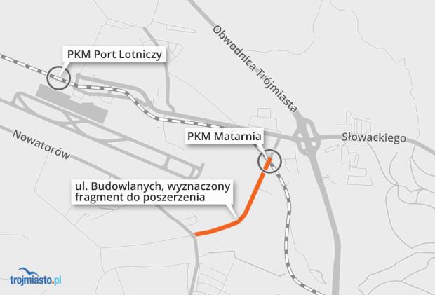Latem ma się rozpocząć rozbudowa ul. Budowlanych, która zyska dodatkowy pas ruchu w kierunku ul. Nowatorów.