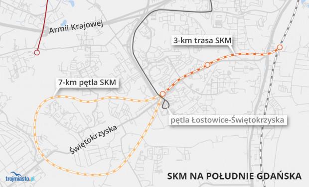 Jedna z koncepcji przebiegu SKM analizowana w kwietniu 2019 r.
