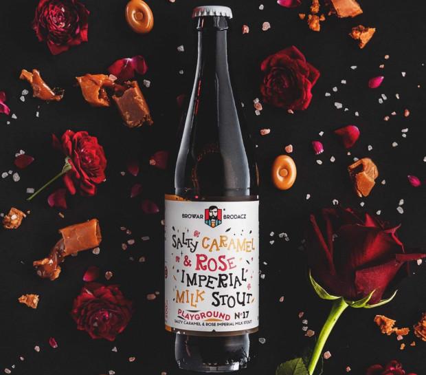 Piwo jak pączek i lody, czyli imperialny, mleczny stout ze słonym karmelem i różą.