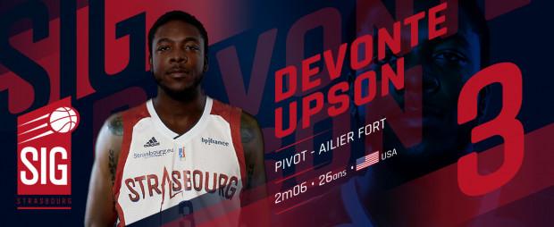 DeVonte Upson w nowym klubie będzie grał z numerem 3 na plecach.