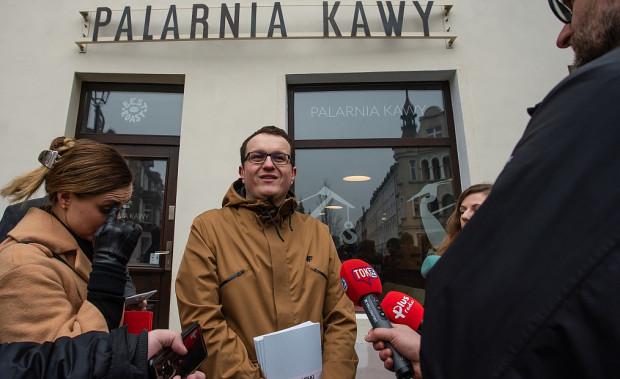 Dariusz Słodkowski podczas konferencji na temat Gdańskiej Szkoły Szyldu.