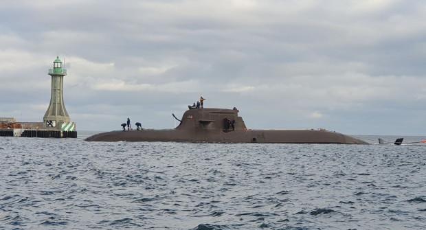 Niemiecki okręt podwodny pojawił się w Porcie Wojennym w czwartek po godz. 9.