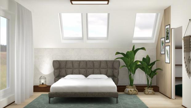 Zgodnie z życzeniem właścicieli, w obu koncepcjach, łóżko znalazło się pod oknami dachowymi tak, by umożliwić oglądanie gwiazd nocą.