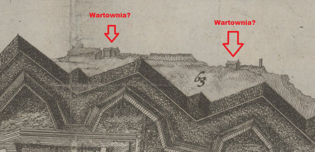 Prawdopodbne wartownie na dziele rogowym, rok 1688.