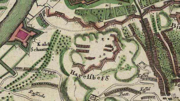 Sytuacja Gradowej podczas oblężenia roku 1734.