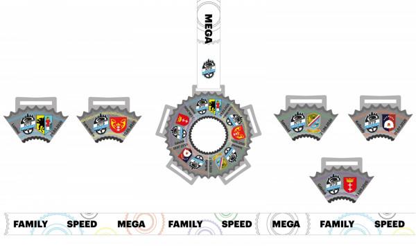 Zbierz efektowne medale pamiątkowe całego cyklu Pomerania MTB.