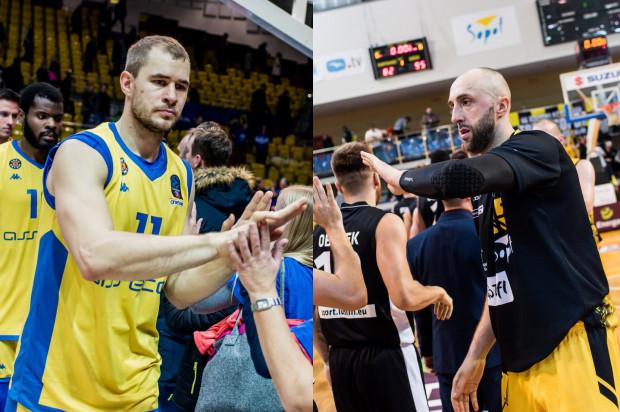 Bartłomiej Wołoszyn z Asseco Arki Gdynia (z lewej) i Witalij Kowalenko z Trefla Sopot (z prawej) są zgodni i przyznają, że ich ich zespoły muszą zagrać na najwyższym poziomie w najbliższej kolejce EBL.