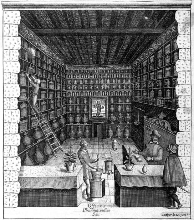 Wnętrze XVII-wiecznej apteki