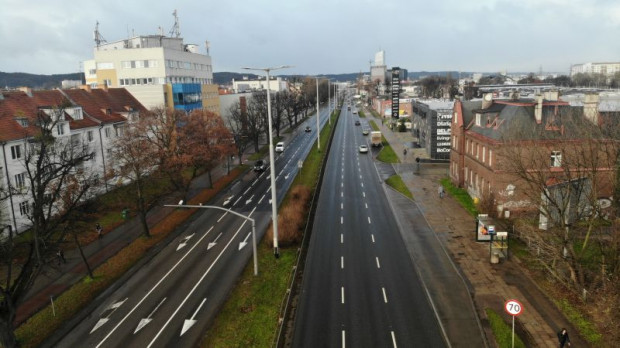 Nowa droga rowerowa wzdłuż al. Grunwaldzkiej w Gdańsku pojawi się po prawej stronie jezdni.