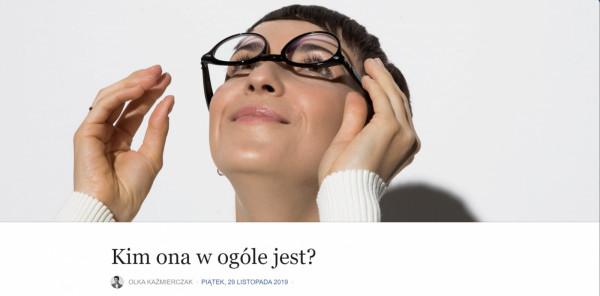 Olka Kaźmierczak wymyśliła strategię osobistą. Szczegóły opisuje na swoim blogu.