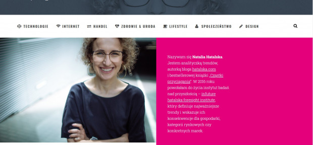 Natalia Hatalska analizuje trendy i zajmuje się badaniami nad przyszłością.