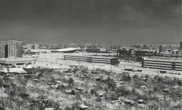 Widok na pierwsze budynki kampusu oliwskiego, 1978 r. (zbiory Muzeum Uniwersytetu Gdańskiego).