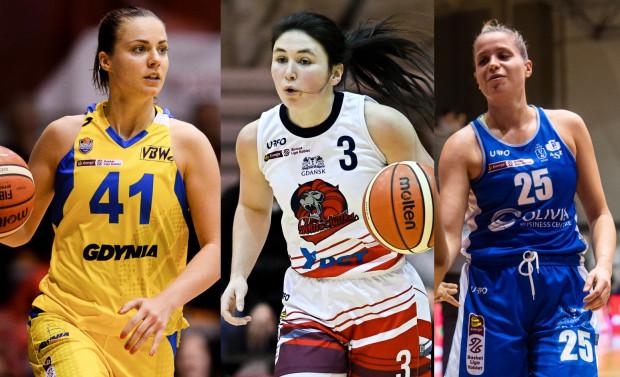 Zdaniem czytelników Trojmaisto.pl, w minionym sezonie, w Arce Gdynia była Barbora Balintova (z lewej), w DGT Politechnice Gdańskiej - Presley Hudson (w środku), a w AZS Uniwersytecie Gdańskim - Olga Frolkina (z prawej).