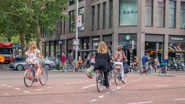 Utrecht to przede wszystkim drogi rowerowe.