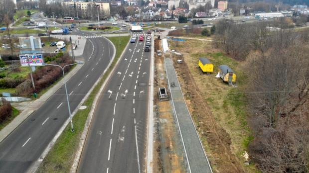Droga rowerowa będzie prowadzić od PKM Brętowo do skrzyżowania z ul. Słowackiego.