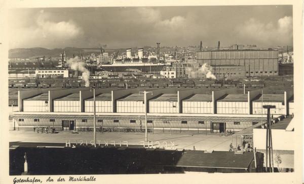 Hala mięsna w czasie okupacji niemieckiej, 1939-1945 (ze zbiorów  Muzeum Miasta Gdyni)