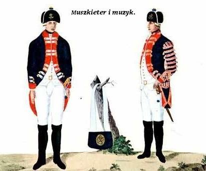 Pruska piechota w roku 1793. Ze zbiorów autora.