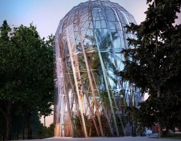 Projekt nowej palmiarni powstał w pracowni Rysy Architekci w 2016 r.