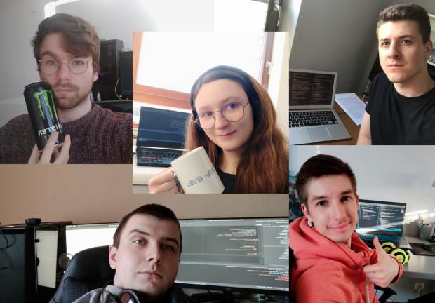 Zespół w składzie: Barbara Klaudel, Aleksander Obuchowski, Mateusz Anikiej, Roman Karski i Bartosz Rydziński w ciągu pięciu dni stworzyli w ramach konkursu aplikację, która ułatwi niesienie pomocy seniorom.
