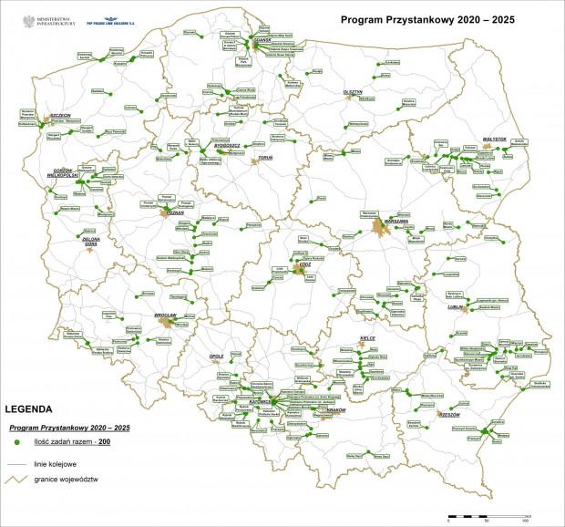 Prezydencki program budowy przystanków kolejowych zakłada powstanie 200 przystanków w 5 lat.