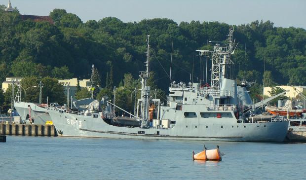 Polska ma trzy okręty do demagnetyzowania, które mają prawie po 50 lat. Na zdjęciu jednostka SD-13