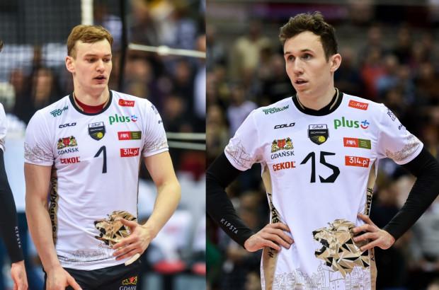 Bartosz Filipiak (z lewej) zagra w PGE Skrze Bełchatów, a Paweł Halaba (z prawej) będzie siatkarzem Aluron Virtu CMC Zawiercie.