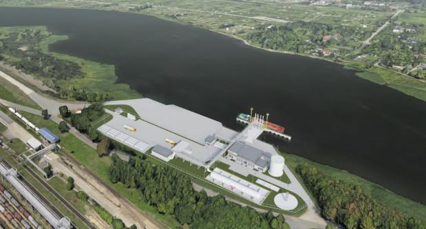 Inwestycja obejmuje m.in. budowę zbiornika magazynowanego LNG, instalacji rozładunkowo-załadunkowej dla stanowiska statkowego, pompowni załadunkowo-rozładunkowej statku oraz pompowni autocystern i kontenerów.