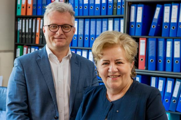 Pani Lucyna Witek i syn Piotr Witek, czyli rodzinna firma Rewit.