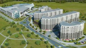 Mieszkańcy powstającego w Redzie kompleksu Aquasfera będą mogli korzystać z dużego centrum rekreacji z aquaparkiem.