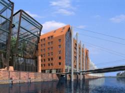 Polnord zorganizował konkurs na zagospodarowanie północnego cypla Wyspy Spichrzów. Na jego podstawie powstał plan zagospodarowania przestrzennego, ale czy powstaną też widoczne na wizualizacji budynki? Zwycięski projekt powstał w gdańskiej pracowni MAT.