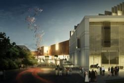 Firmy walczące o możliwość przebudowania terenów wokół dworca w Sopocie musiały wnieść wadium w wysokości 2 mln zł. Zwycięzca konkursu straci je, jeśli wycofa się z inwestycji z miastem. Fragment koncepcji architektonicznej przedstawionej przez Bałtycką Grupę Inwestycyjną.