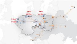 Sieć regularnych połączeń intermodalnych PCC Intermodal SA – połączenia obecne i plany rozwoju.