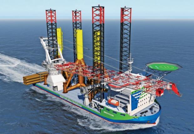 Statek budowany przez Crist SA będzie obsługiwał cały proces instalacji farm wiatrowych od załadunku turbin oraz masztów, po ich instalację w miejscu przeznaczenia.
