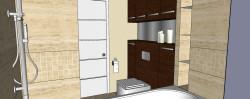 Zamontowanie ubikacji w systemie podwieszanym pozwala wykorzystać przestrzeń wokół do stworzenia kilku szafek.