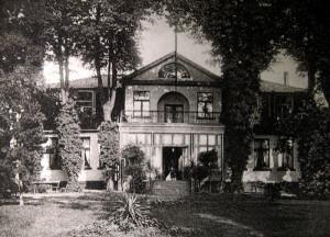 Dwór Fischera na początku XX wieku